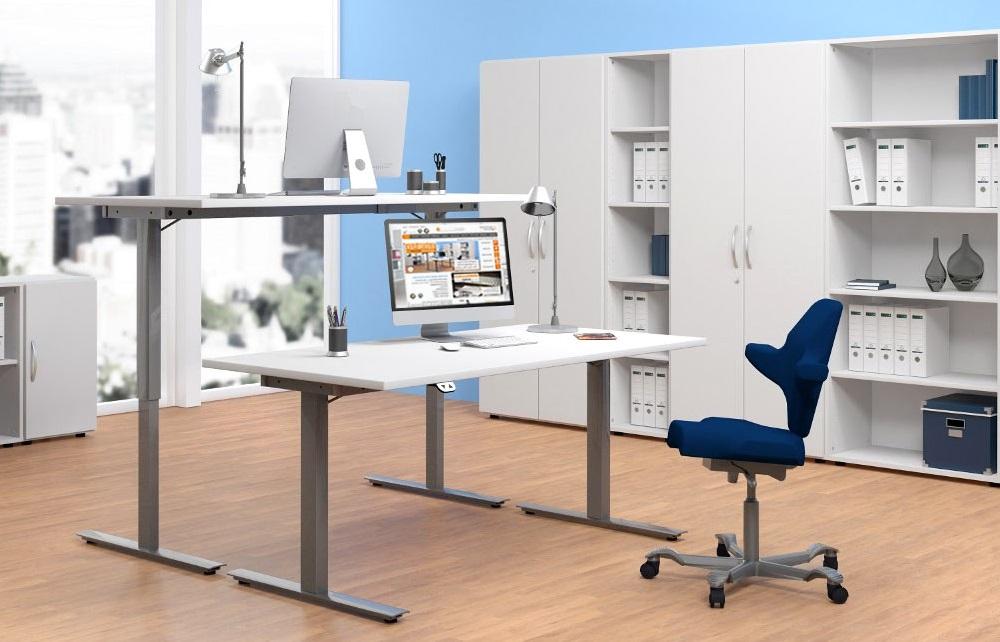 Oficina mesas de altura ajustable